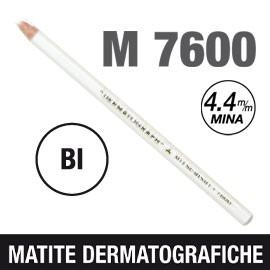 Matita dermotografica 7600 bianco UNI MITSUBISHI - conf. 12