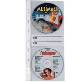 10 BUSTE FORATE ATLA CD2 12,5X30CM PER 2CD/DVD - conf. 1