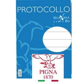 PROTOCOLLO A4 1RIGO 200FG 80GR PIGNA - conf. 1