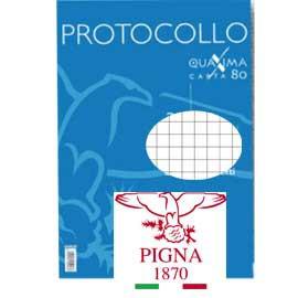 PROTOCOLLO A4 4MM 200FG 80GR PIGNA - conf. 1