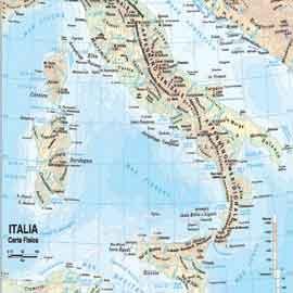 CARTA GEOGRAFICA SCOLASTICA PLASTIFICATA ITALIA 297X420MM BELLETTI - conf. 20