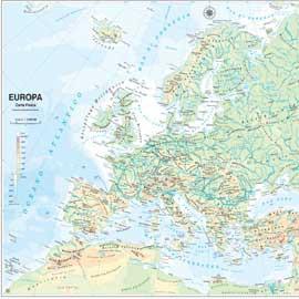 CARTA GEOGRAFICA SCOLASTICA MURALE EUROPA BELLETTI - conf. 1