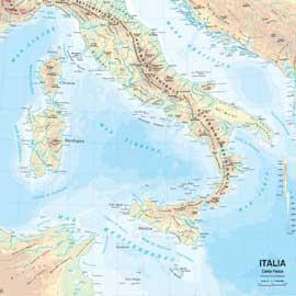 CARTA GEOGRAFICA SCOLASTICA MURALE ITALIA BELLETTI - conf. 1
