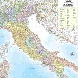 CARTA GEOGRAFICA MURALE ITALIA 97X122CM BELLETTI - conf. 1
