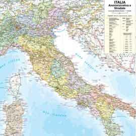 CARTA GEOGRAFICA MURALE ITALIA 67X85CM BELLETTI - conf. 1