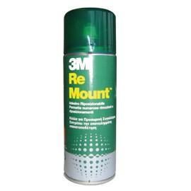 ADESIVO SPRAY 3M RE-MOUNT RIMOVIBILE - TRASPARENTE 400ML - conf. 1