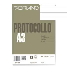 PROTOCOLLO A4 1RIGO 200FG 60GR FABRIANO - conf. 1