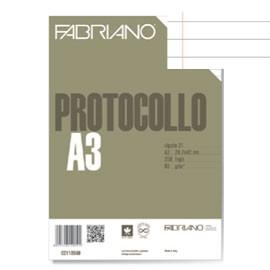 PROTOCOLLO A4 1RIGO C/MARGINE 200FG 60GR FABRIANO - conf. 1