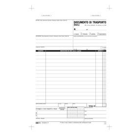 BLOCCO DDT 23X14,8CM 33fg 3 copie AUTORIC. E5215CT - conf. 1
