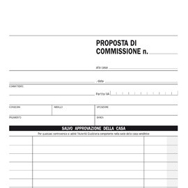 BLOCCO COPIA COMMISSIONI 23X15cm 33fg 3 copie autoric. E5230CT EDIPRO - conf. 1