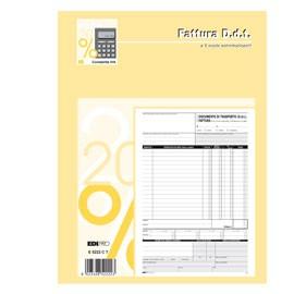BLOCCO DDT/FATTURA 29.7X22CM 33fg 3 copie AUTORIC. E5222CT - conf. 1