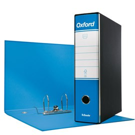 Registratore OXFORD G83 azzurro dorso 8cm f.to commerciale ESSELTE - conf. 6