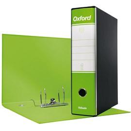 Registratore OXFORD G85 verde lime dorso 8cm f.to protocollo ESSELTE - conf. 6