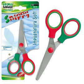 FORBICI SNIPPY SOFT 13CM PUNTA TONDA COLORI ASS. ART.4512 - conf. 1