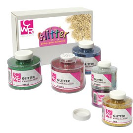SET 6 BARATTOLI GLITTER GRANA FINE ML150 colori assortiti ART 05404 CWR - conf. 1