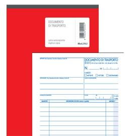 DOCUMENTO DI TRASPORTO 150x225mm 50fgx3 copie(mitt-dest-vett) BM - conf. 1