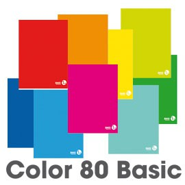 MAXIQUADERNO A4 80gr 80fg+1 commerciale COLOR 80 BASIC BM - conf. 10