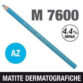 Matita dermotografica 7600 azzurro UNI MITSUBISHI - conf. 12