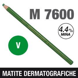 Matita dermotografica 7600 verde UNI MITSUBISHI - conf. 12
