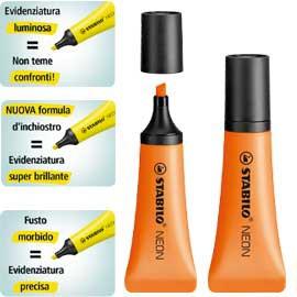Evidenziatore STABILO NEON arancio 72/54 - conf. 10