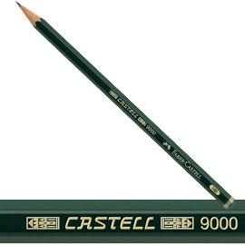 MATITA GRAFITE CASTELL 9000 2H esagonale FABER CASTELL - conf. 12