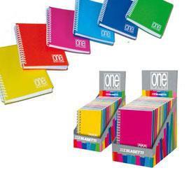 EXPO 14 MINIQUADERNI SPIRALATI PPL A6 12x17cm mix 6 colori ONE COLOR BLASETTI - conf. 1