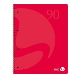 MAXIQUADERNO A4 SPIRALATO 90gr 120fg 4fori microperf. bianco COLORS BM - conf. 3