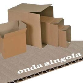 SCATOLA CARTONE PER IMBALLO AVANA ONDA singola P357xL255xH273mm - conf. 25
