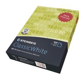 CARTA STEINBEIS CLASSIC WHITE A3 80gr 500fg 100 riciclata - conf. 5