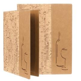 CARTA DEI VINI A4-24x34cm SUGHERO DESIGN con 1 INSERTO DOPPIO - conf. 1