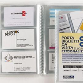 PORTABIGLIETTI VISITA PERS. 20 BUSTE A 3 TASCHE 12,5x20,5cm FAVORIT - conf. 1