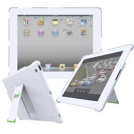 CUSTODIA CON BASE APPOGGIO BIANCO x nuovo iPad/iPad2 Leitz Complete - conf. 1