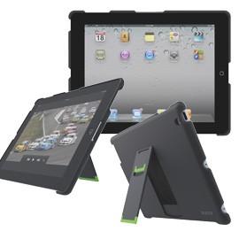 CUSTODIA CON BASE APPOGGIO NERO x nuovo iPad/iPad2 Leitz Complete - conf. 1