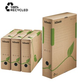 SCATOLA ARCHIVIO EcoBox 80 32,7x23,3x8cm ESSELTE - conf. 25