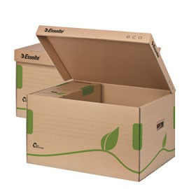 SCATOLA CONTAINER EcoBox 34x43,9x25,9cm apertura superiore ESSELTE - conf. 10
