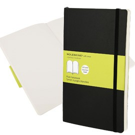TACCUINO MOLESKINE LARGE 13x21cm 240pg bianco copertina morbida c/elastico nera - conf. 1