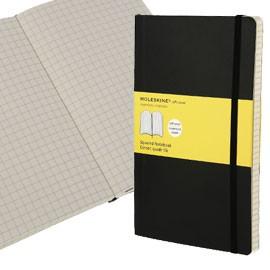 TACCUINO MOLESKINE XLARGE 19x25cm 192pg 5mm copertina morbida c/elastico nera - conf. 1