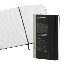 TACCUINO PROFESSIONAL MOLESKINE LARGE 13x21cm 240pg rigida c/elastico nera - conf. 1