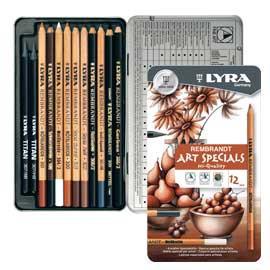 ASTUCCIO METALLO assortimento 12 matite REMBRANT ART SPECIAL SCHIZZO LYRA - conf. 1