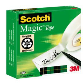 NASTRO ADESIVO SCOTCH MAGIC 810-2566 25mmX66mt INVISIBILE PERMANENTE - conf. 1