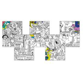 MAXIQUADERNO A4 COLOURING BOOK KIDS 80 10mm 38fg+2 80gr FABRIANO - conf. 10