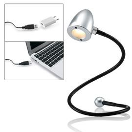 LAMPADA USB LED SNAKE 1,5W ARGENTO SATINATO - conf. 1