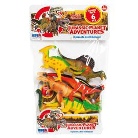 JURASSIC PLANET ADVENTURES BUSTA CON 6 PZ RONCHI SUPERTOYS - conf. 1
