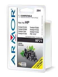 CARTUCCIA NERA PER HP N21 PSC 1410, 1415, Deskjet F380, D1360 DOPPIA CAPACITA - conf. 1