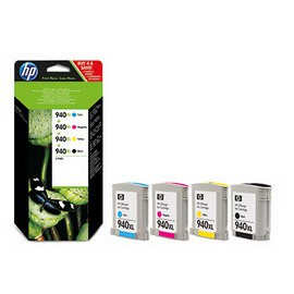 COMBO PACK 4 CARTUCCE INK OFFICEJET HP 940XL -NERO GIANO MAG GIALLO - conf. 1
