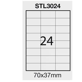 Etichetta adesiva bianca 100fg A4 70x37mm (24et/fg) STARLINE - conf. 1