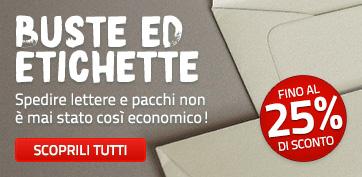 IT - PROMO - Buste ed etichette - 25%