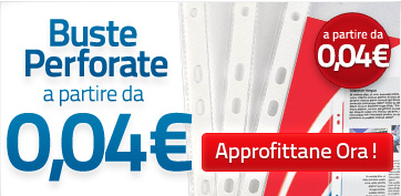 IT - PROMO - Buste perforate - 0,04€