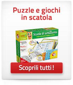 Puzzle e giochi in scatola per bambini