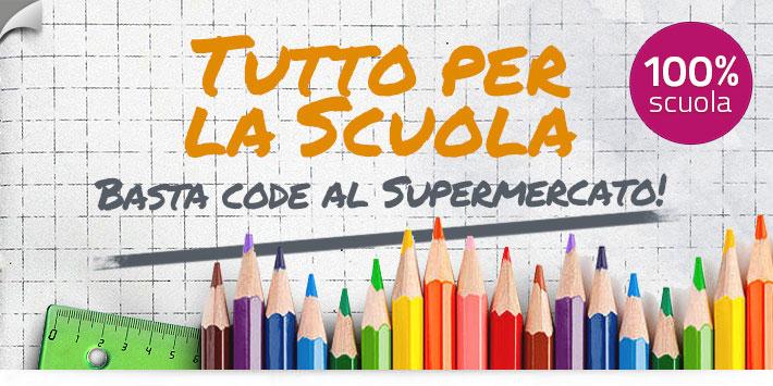 Acquista i prodotti per la scuola online, mai più code al supermercato!